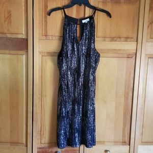 Black Candie's silver sequin party dress